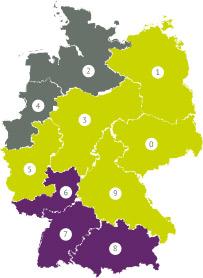 Solar-Deutschlandkarte