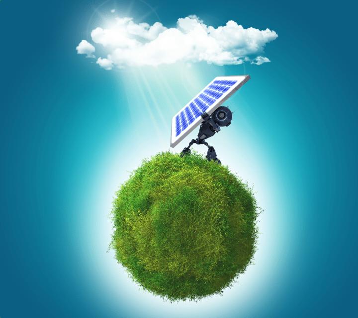 Solarenergie Panel Wiese