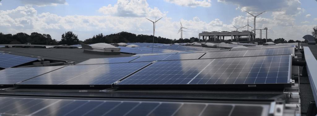 Solarstrom Flachdach gross