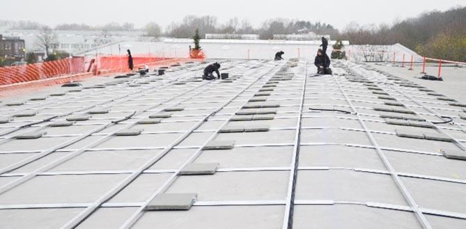 Johanniter Photovoltaik Unterkonstruktion Montage